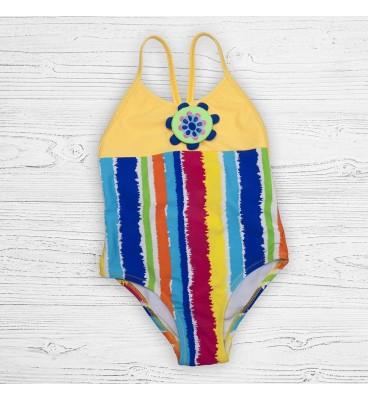 Детский купальник 19124 слитный радуга желтый