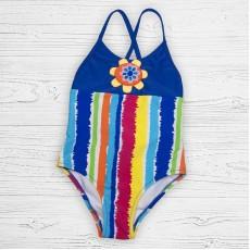 Детский купальник 19124 слитный радуга ярко-синий