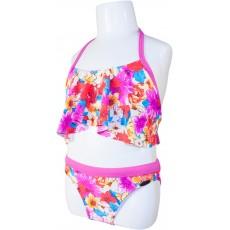 Детский купальник DZ-57 раздельный для девочек розовые цветы