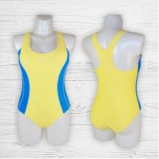 Подростковый купальник 695001-1 слитный желтый