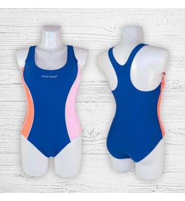 Подростковый купальник 695001-1 слитный синий