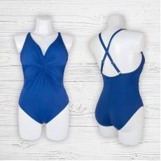 Женский купальник 69916 слитный синий