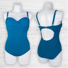 Женский купальник 69918 слитный синий