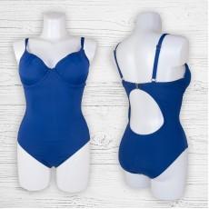 Женский купальник 69936 слитный синий