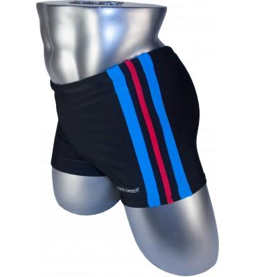 Мужские плавки 79188-2 боксеры баталы черный голубая/красная/голубая