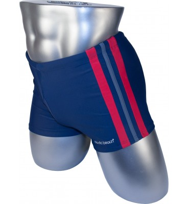 Мужские плавки 79188-2 боксеры баталы синий красная/серая/красная