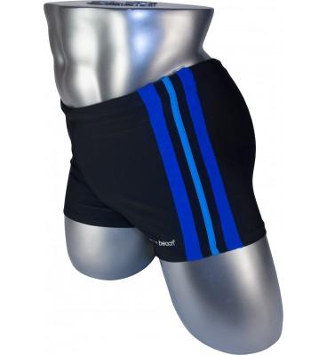 Мужские плавки 79188 боксеры черный фиолетовая/голубая/фиолетовая