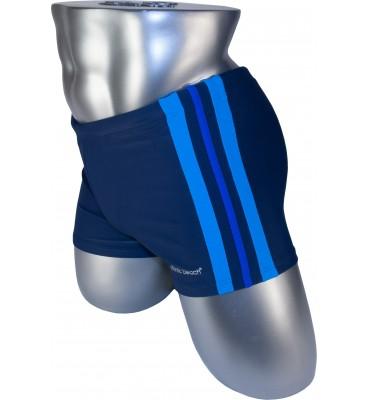 Мужские плавки 79188 боксеры синий голубая/фиолетовая/голубая