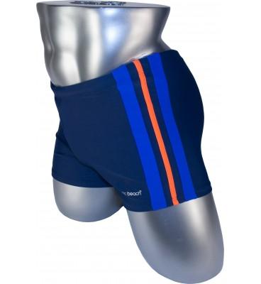Мужские плавки 79188 боксеры синий фиолетовая/оранжевая/фиолетовая