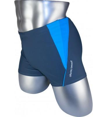 Мужские плавки 79197 боксеры серый голубая/синяя вставка