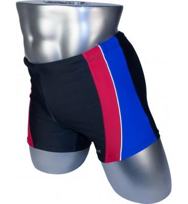Мужские плавки 79202 боксеры черный синяя/красная вставка