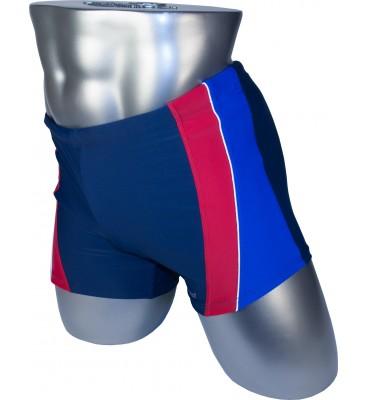Мужские плавки 79202 боксеры синий синяя/красная вставка