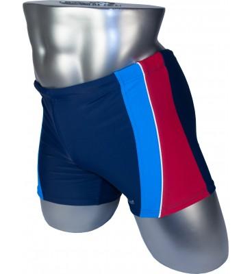 Мужские плавки 79202 боксеры синий голубая/красная вставка