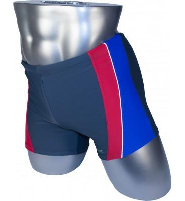 Мужские плавки 79202 боксеры серый синяя/красная вставка