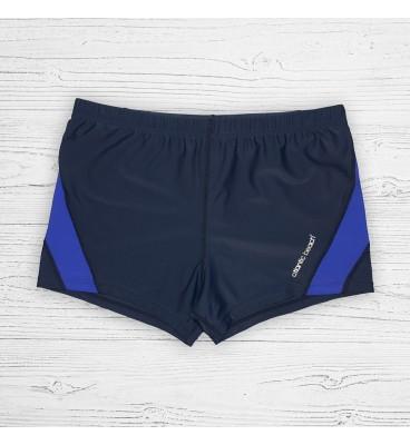 Мужские плавки 79325 боксеры синий фиолетовая вставка