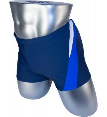 Мужские плавки 79328 боксеры синий фиолетовая/белая вставка