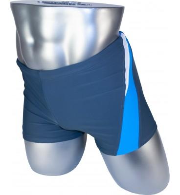 Мужские плавки 79328 боксеры серый голубая/белая вставка