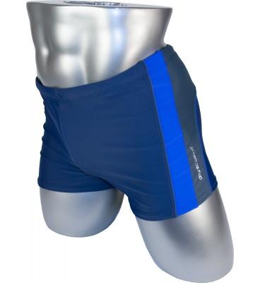 Мужские плавки 79329 боксеры синий фиолетовая вставка