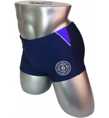 Мужские плавки 7988 боксеры синий фиолетовая вставка