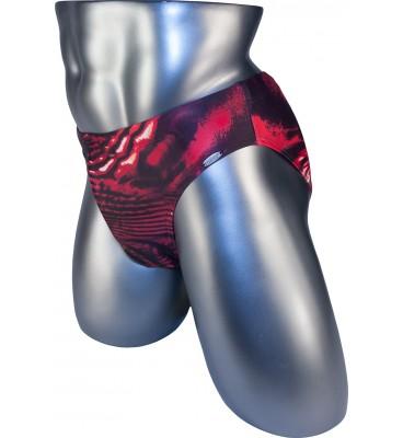 Мужские плавки DZ-112 брифы красный абстракция