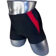 Мужские плавки PH-30008 боксеры черный красная вставка