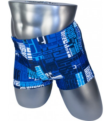 Мужские плавки 13-200 боксеры синий газетка