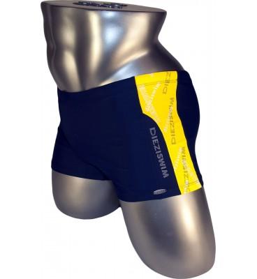 Подростковые плавки DZ-17 боксеры для мальчиков синий с желтым