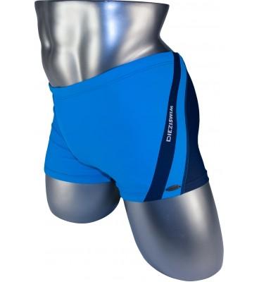 Подростковые плавки DZ-18 боксеры для мальчиков голубой спереди/серый сзади