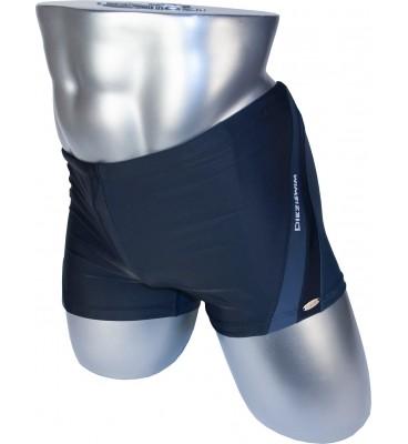 Подростковые плавки DZ-18 боксеры для мальчиков черный спереди/серый сзади