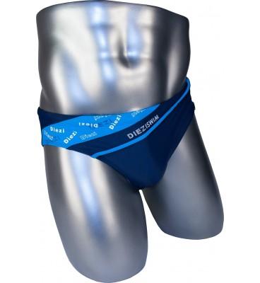Подростковые плавки DZ-28 брифы для мальчиков синий с гобулым