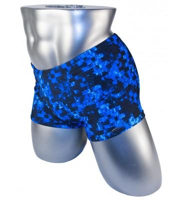 Подростковые плавки DZ-32 боксеры для мальчиков синий камуфляж