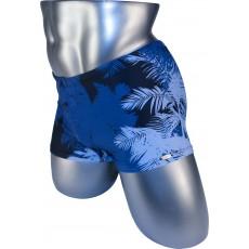 Подростковые плавки DZ-32 боксеры для мальчиков синяя пальма